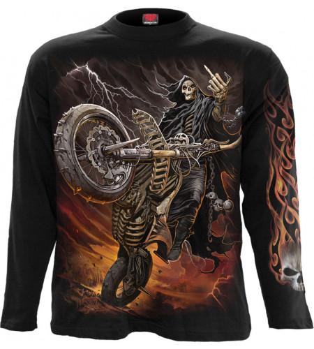 Boutique moto motard vente vêtement biker manches longues la faucheuse bike life spiral boutique france