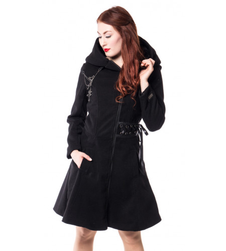 Tears - Manteau Rock Gothic femme - Alchemy Black