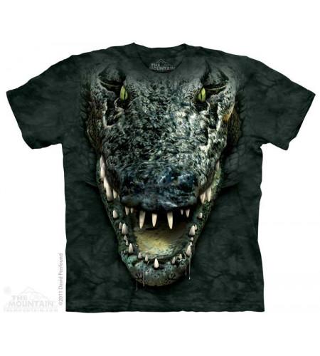 tee shirt gator head - tête crocodile - the mountain