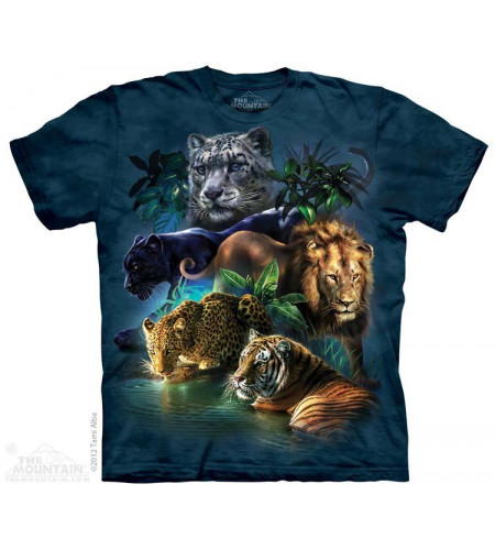 tee shirt the mountain animaux félins