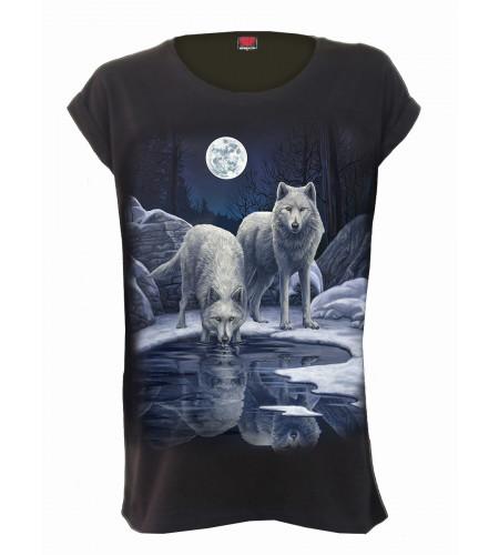 Boutique vente vetement motif loups lisa parker manches courtes