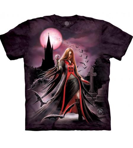 boutique tee shirt gothique dark fantasy pretresse blood moon artiste anne stokes the mountain