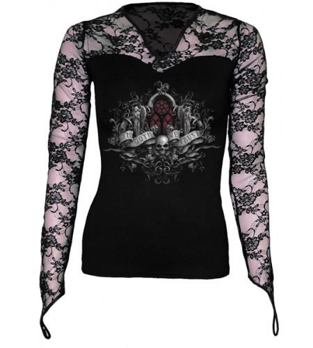 vetement gothic femme tee shirt spiral