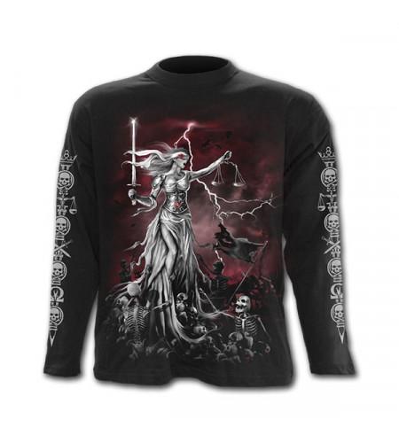 t-shirt homme gothic spiral motif justice et squelettes