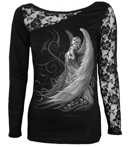 Captive spirit - T-shirt femme ange gothic - Manches longues - Spiral