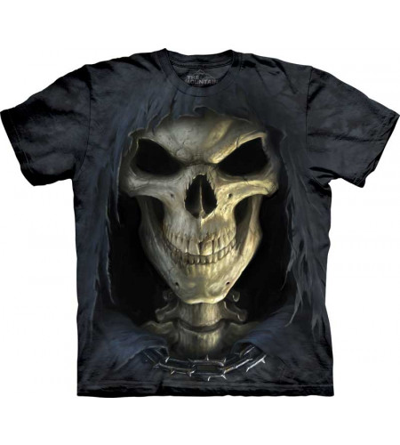 tee shirt homme reaper squelette Big face death the mountain