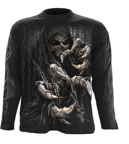 tee shirt squelette manches longues gothique