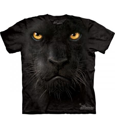 tee shirt panthère noire the mountain