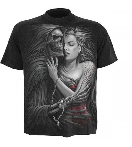 tee shirt gothique squelette femme
