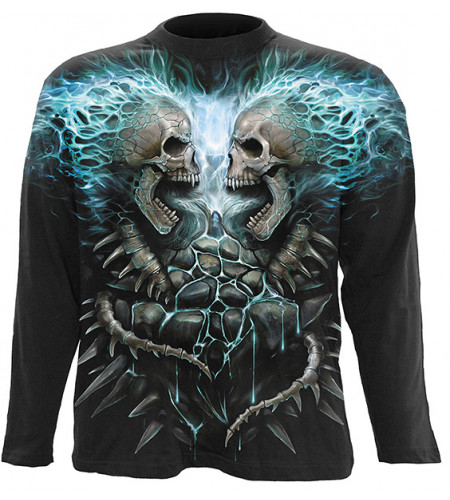 Flamming spine - Tee-shirt homme squelettes - Spiral