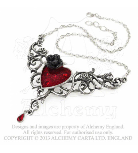 Blood roses heart - Bijou collier - Alchemy Gothic