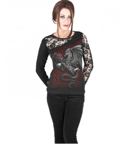 mode alernative femme motif dragon