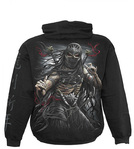 sweat shirt ninja squelette spiraldirect