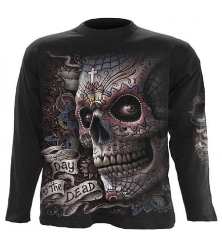 tee shirt skull homme art graphique mexicain