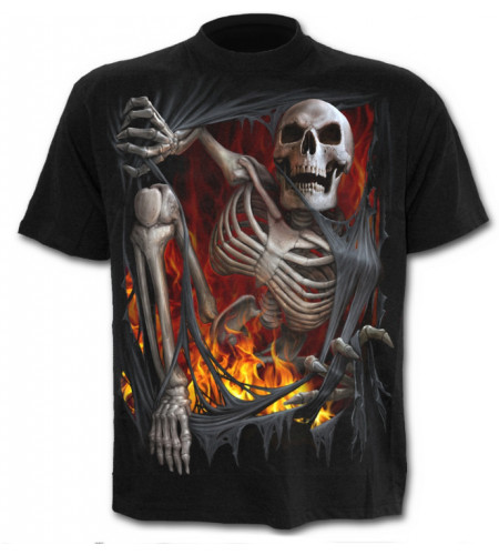 Death re-ripped - T-shirt homme gothique squelette