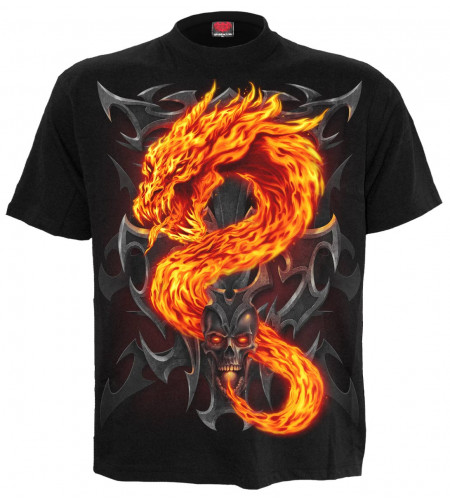 boutique vente tee shirts de dragon - FIRE DRAGON - Spiral