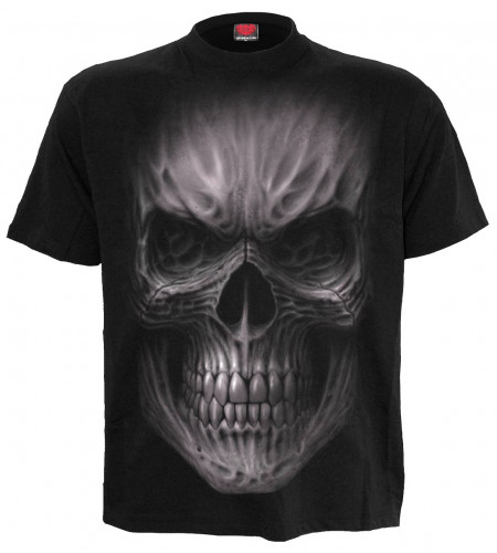 tee shirt tete de mort tribal spiral boutique
