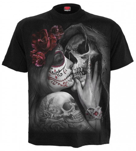 Dead kiss - T-shirt gothique dark fantasy - Homme - Spiral