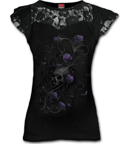 Entwinned skull - T-shirt femme gothique
