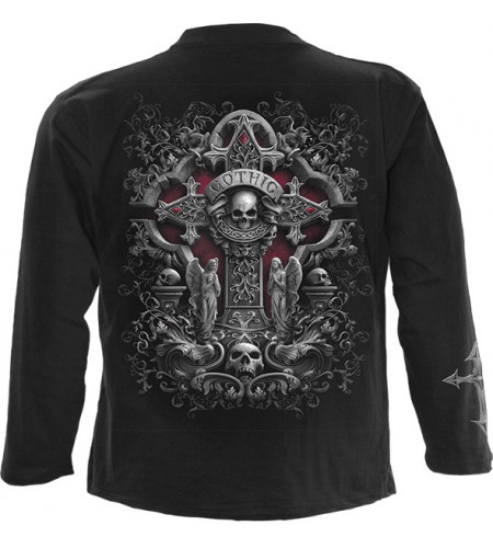 tee shirt gothique manches longues homme