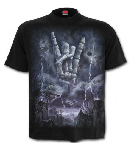 boutique tee shirt rock dark heavy metal guitare