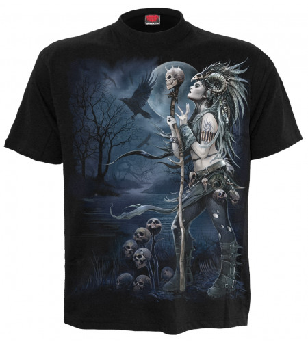 boutique vente tee shirt dark fantasy gothic raven queen manches courtes