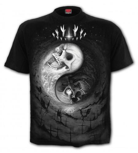 Yin yang skulls - T-shirt gothique cranes - Homme - Spiral