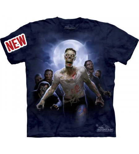 tee shirt de zombi homme manches courtes