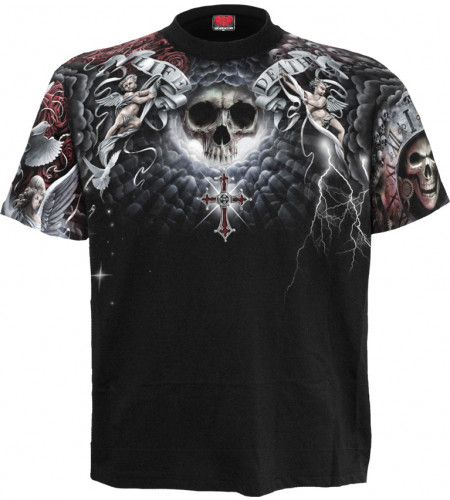 Life and death cross - T-shirt homme - Dark fantasy gothic