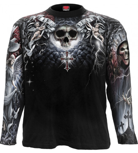 Life and death cross - Tee-shirt homme - Dark fantasy - Manches longues