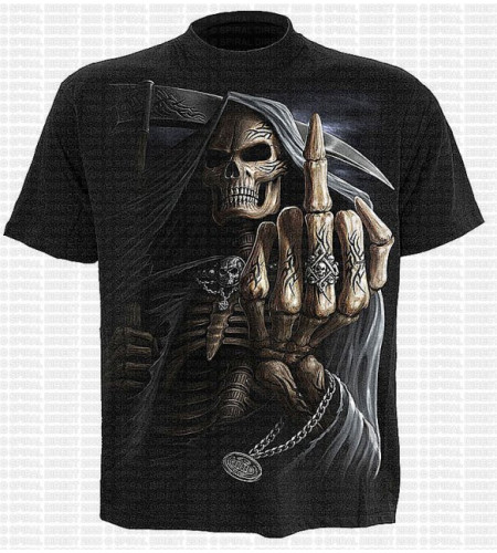 Bone finger Achat T-shirt dark wear fantasy squelette Spiral
