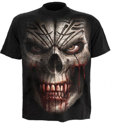 t-shirt tete de mort skull shock