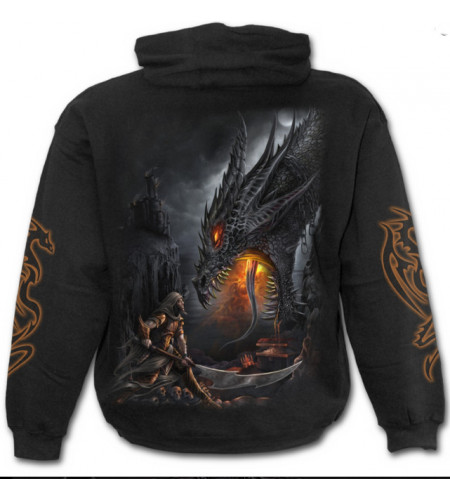 SWEAT SHIRT HOMME MOTIF DRAGON SLAYER SPIRAL