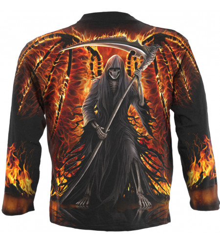 Flaming death - Tee-shirt homme Reaper - Spiral