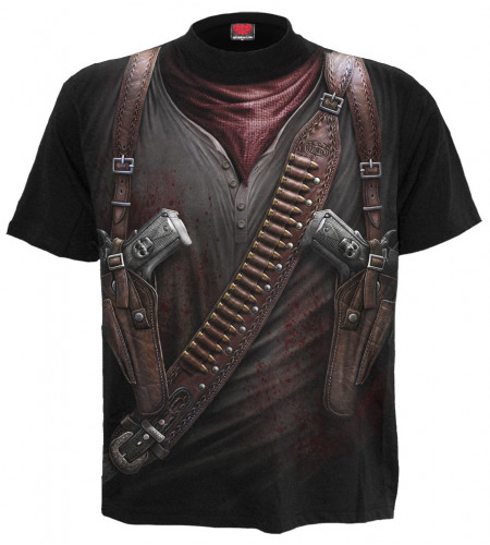 Holster wrap - T-shirt homme fantasy western - Spiral