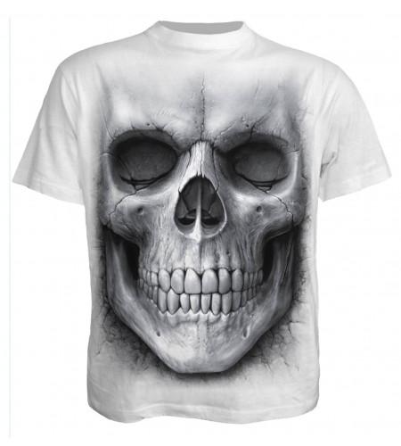Solemn skull - T-shirt blanc gothique crâne - Spiral