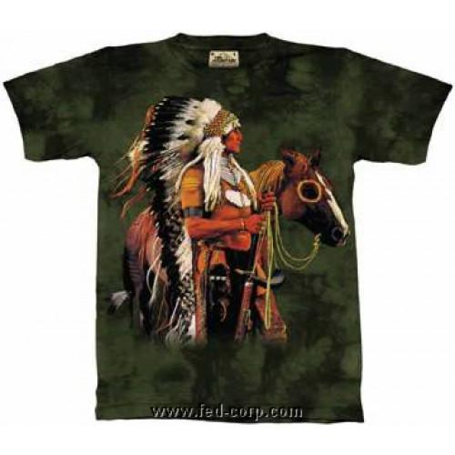 Guerrier Homme T Shirts Sérigraphiés Shirt Indien Serigraphie 8qwgzYq