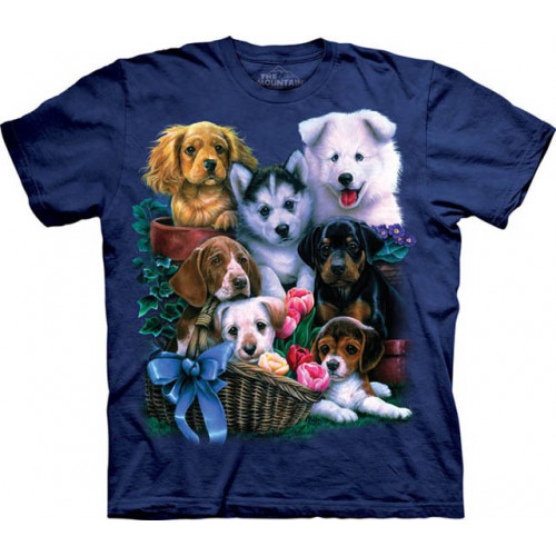 37cbad038ac15 Puppy collage - T-shirt enfant chiots - The Mountain 151177