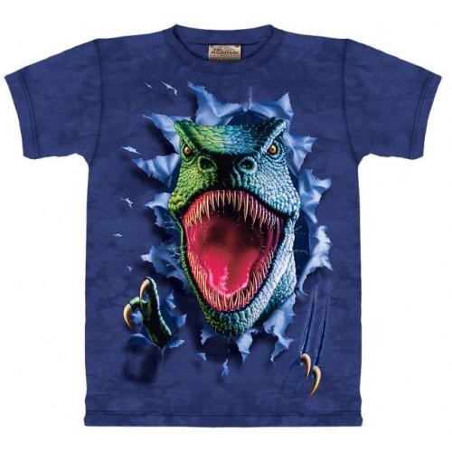 7ecc4cf1f3145 Tee-shirt enfant de 4 à 12 ans Velociraptor dinosaure haute qualité