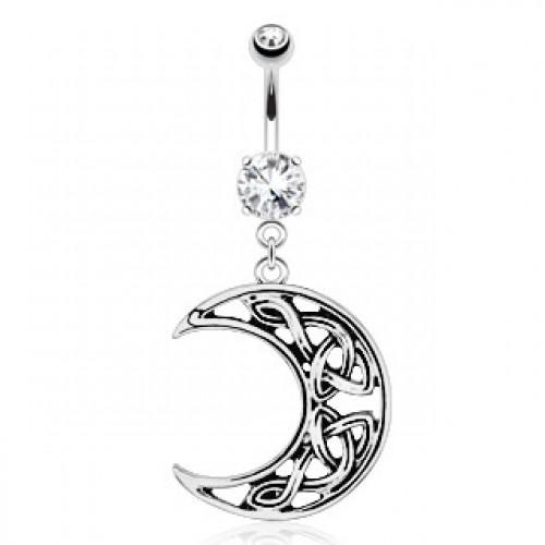 Bijoux De Nombril boutique bijoux piercings : piercing nombril - lune celtique
