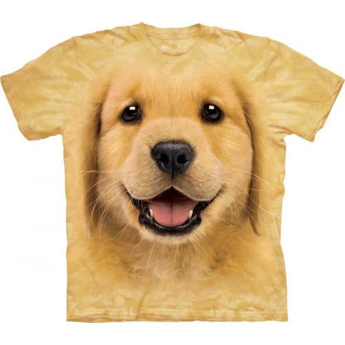 63f22606e4c25 T-shirt The Mountain enfant motif chiot Golden Retriever