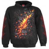 Skull lava - Sweat shirt enfant - Crane flamme - Spiral