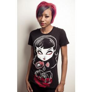 Deadly rose - T-shirt femme gothic - Akumu Ink