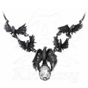 collier femme gothique Murder of crows