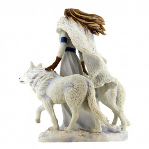 Winter guardians - Figurine fantasy et loups - Anne Stokes