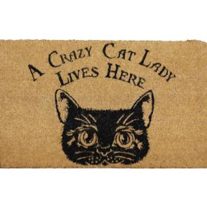 Crazy Cat Lady - Paillasson - Déco chat - 75x45cm