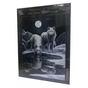 Puzzle - 2 Loups - Lisa Parker - Warriors of winter - 1000 pièces