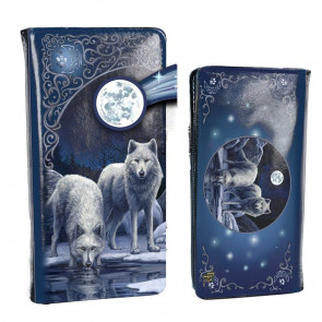 Warriors of winter - Portefeuille embossed - Loup - 18.5cm