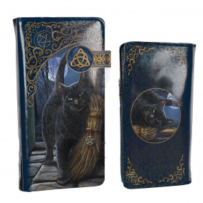 A brush with magick - Portefeuille embossed - Chat - 18.5cm