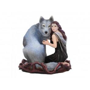 Soul Bond - Figurine femme et loup - Statuette - Anne Stokes